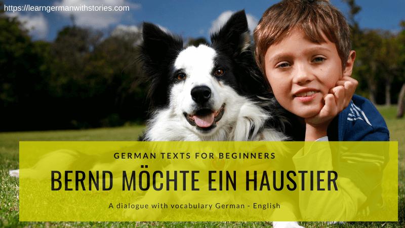 Bernd möchte ein Haustier German text for beginners